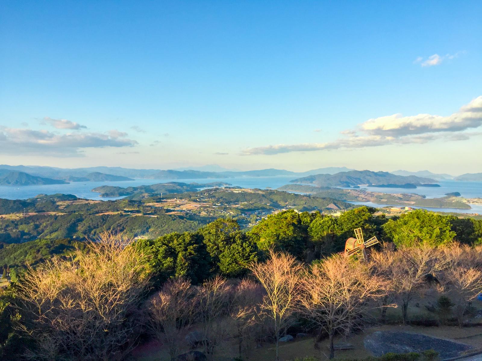 長島の豊かな自然。